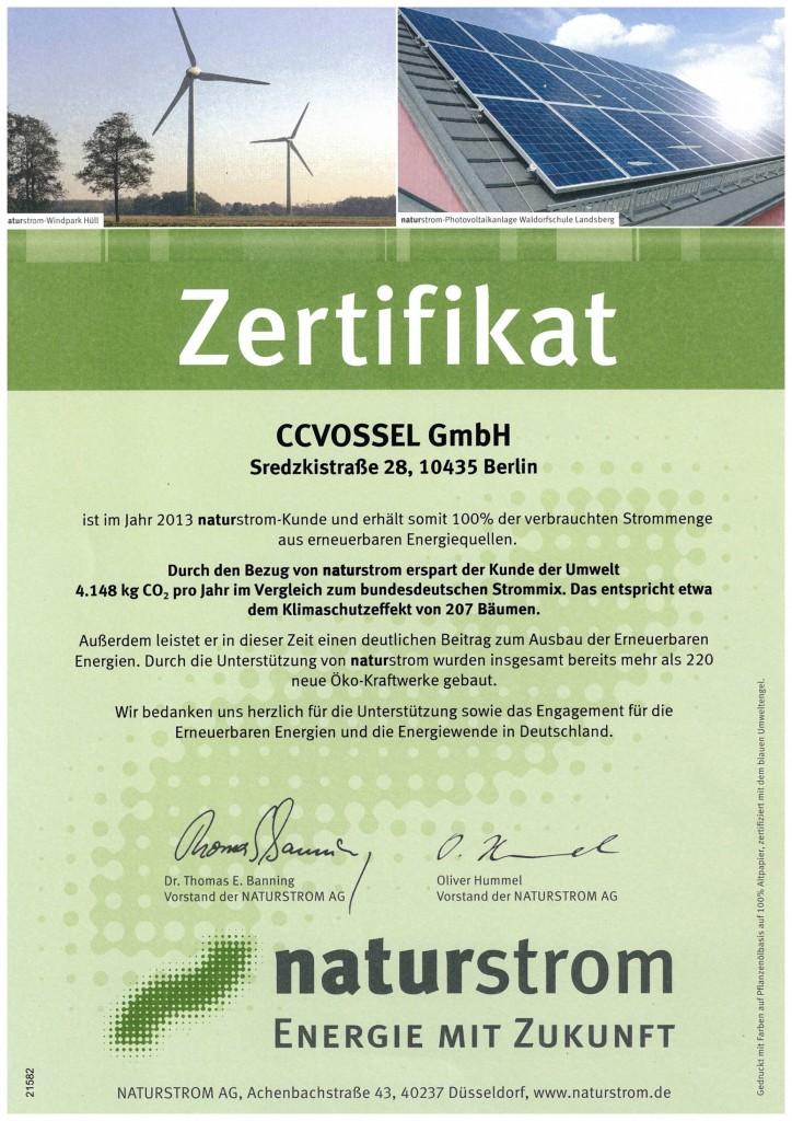 Zertifikat-Naturstrom